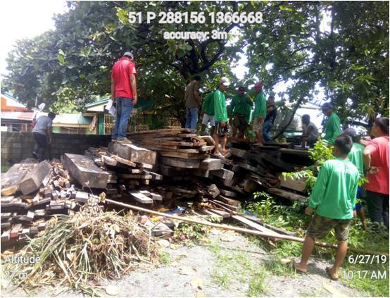 DENR MIMAROPA donates lumber to Recto Bank fishermen